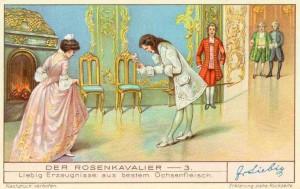 """Eines der seltenen Bilder ohne Fleischextrakt: die Überreichung der silbernen Rose im """"Rosenkavalier"""""""