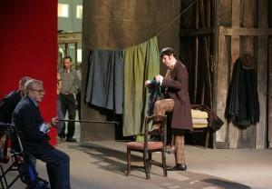 Massimo Cavalelletti: Proben mit Franco Zeffirelli zu Cavallettis erstem Schaunard an der Mailänder Scala 2005/Archivio della Scala