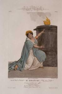 """Alexandrine Caroline Branchu, nata Chevalier, fu nel 1807, all'età di 27 anni la prima protagonista de """"La Vestale""""/Musero Spontini, Maiolati Spontini"""