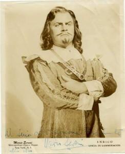 "Mario Sereni/ Edgardo in ""Lucia di Lammermoor""/ Met Opera Archive/ Memorial Page cs.princeton.edu"