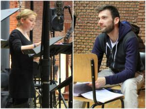 """""""Herculanum""""/ Probe bei Radio France: Karine Deshayes und Nicolas Courjol/Répétition au piano l'après-midi et enregistrement avec l'orchestre le ... francemusique.fr"""