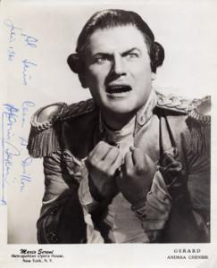 "Mario Sereni/ Gérard in ""Andrea Chénier/Met Opera Archive/ Memorial Page cs.princeton.edu"