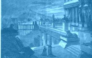 """""""Herculanum""""/ Illustration zum 4. Akt/ Sammlung Günther Braam aus dem Buch zur Neuausgabe bei Ediciones Singolares"""