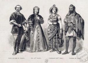 """""""Vasco da Gama"""": die vier Hauptdarsteller der Uraufführung der """"Africaine""""/ Gallica/ Wiki"""