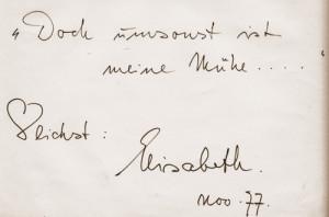 Schwarzkopf - Albumblatt