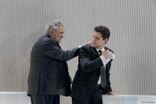 "Saimir Pirgu und  Placido Domingo in ""La Traviata""/ Metropolitan Opera New York/ FKen Howard"