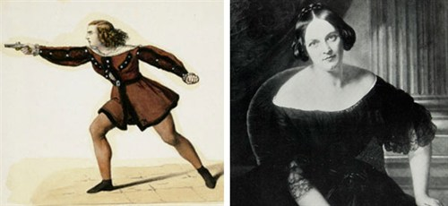 """""""Die Rüberbraut"""": Wilhelmine Schröder-Devrient, die berühmte """"Fidelio""""-Leonore ihrer Zeit, sang die Laura in Berlin/ bno.no"""