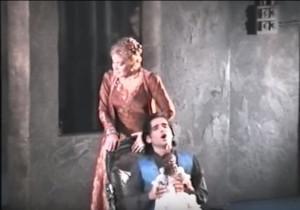 "Nelly Miricioiu und Bülent Bezdüz in ""Lucrezia Borgia"", Amsterdam 1985/ youtube"