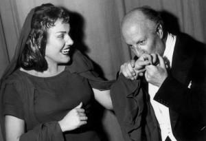 Inge Borkh: Medea in Berlin 1958 mit Vittorio Gui/ Städtische Oper/ Foto Borkh