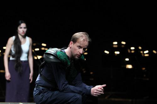 """""""Werher"""" im Theater am Goetheplatz Bremen mit Nadine Lehrer/ Charlotte und peter Schöne/ Albert (Foto Jörg Lansberg), eine Kritik folgt"""