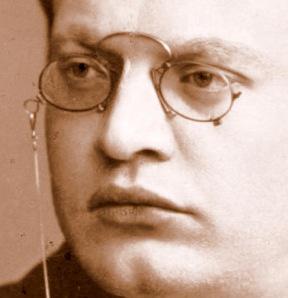 Ausschnitt aus einem Porträt des Komponisten. Es stammt aus der Sammlung Manskof der Universität Frankfurt am Main.