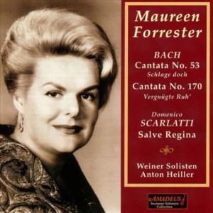 Die Sängerin mit Kantaten von Johann Sebastian Bach, die bei Amadeus auf CD erschienen sind.
