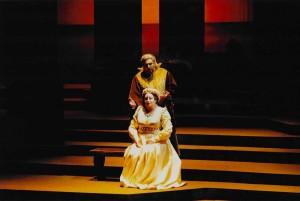Françoise Pollet (Amelia) et Alain Fondary (Simon Boccanegra) dans Simon Boccanegra de Verdi à Avignon en 1992/ Pollet/ tutti-magazine.fr