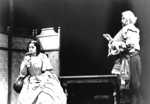 Françoise Pollet (Alice Ford) et Dan Musetescu (Falstaff) dans Falstaff de Verdi à Lübeck en 1986/ tutti-magazine.fr/ Pollet