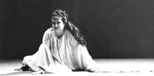 Françoise Pollet interprète Reiza dans Oberon à Montpellier 1988. © Vincent Pereira/ tutti-magazine.fr/ Pollet
