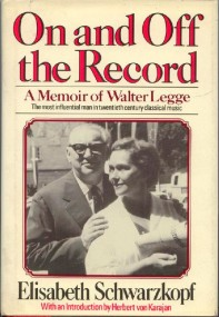 Eine Fundgrube an Informationen sind die Memoiren von Elisabeth Schwarzkopf und Walter Legge - hier in der Originalfassung. In deutscher Sprache ist das Buch 1982im NOK-Hübner Verlag erschienen (ISBN 3-88453-018-8).