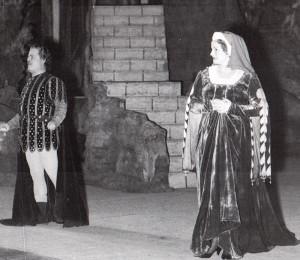 Anna de Cavalieri als Trovatore-Leonore neben Mario Filipeschi/www.mariofilipeschi.com