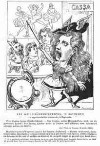 Oscar Straus - Wagner-Karikatur/ Wiki
