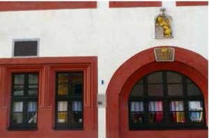 """Webers Wohnhaus in Freiberg/ Foto Metzner/ Programmheft zur Aufführung des """"Waldmädchens"""""""