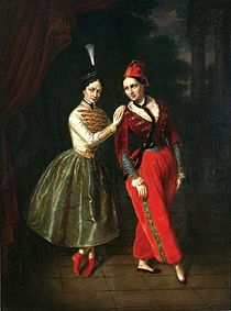 """Satanella"": The Strauss sisters, Leila and Asmodée, 1853, by Jan Ksawery Kaniewski/ Wiki"