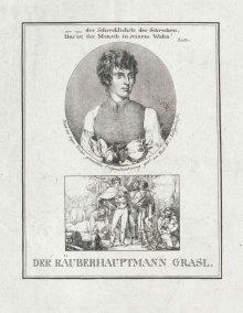 """""""Die Räuberbraut"""":; Räuberhauptmann Grasl war ein gesuchter, aber auch belöiebter Räuber in Österreich im 18. Jahrhundert/ habsburger.net"""