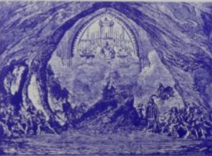 """Saranella""/ Bühnenbild zum 3. Akkt/ Balfe Society"