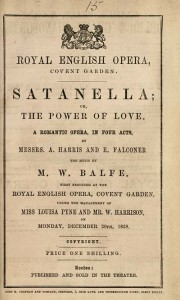 "Balfes ""Satanella"" in Covent Garden/ Wiki"