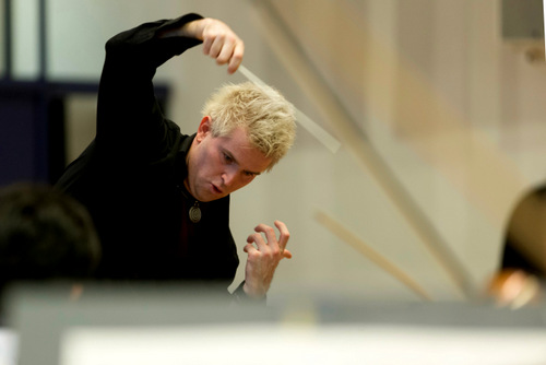 Probe Stuttgarter Philharmoniker mit Dirigent Dan Ettinger  Foto: Thomas Niedermueller/ niedermueller.de
