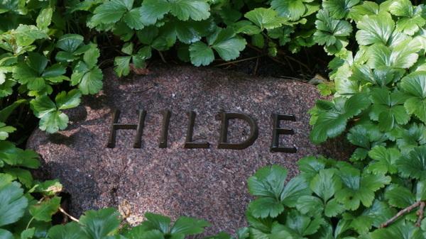 Hilde: Der Gedenkstein ist in das Ehrengabe von Frida Leider und Rudolf Deman eingelassen. Foto: Winter