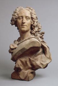 Jean-Baptiste Lemoyne, Büste von Noël-Nicolas Coypel, 1730, Terracotta/ theredlist.com