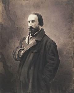 """Saint-Saens: """"Proserpine""""/ der Autor Auguste Vacquerie, Verfasser des Bühnenstücks """"Proserpine"""" auf einem Foto von Nadar/ Taschen"""
