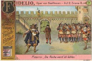 """Beethovens """"Leonore"""": Illustratioin zur """"Fidelio"""" aus den Liebig-Beilage-Bildern/ OBA"""